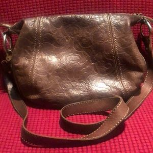 Fossil Embossed Leather Crossbody